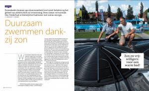 Zwembad verwarmen met zonne-energie